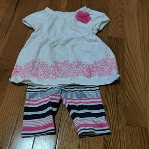 OshKosh girls outfit 18month pink blue and white